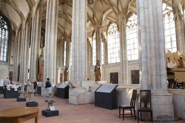statues inside a church