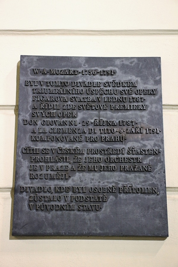 A plaque on a wall