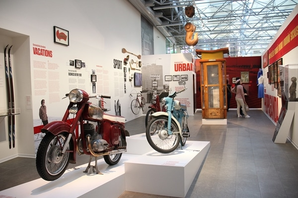 interior of a museum with various displays