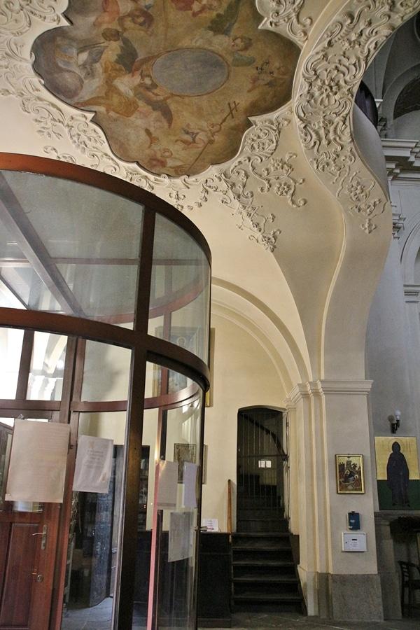 interior entrance of a church