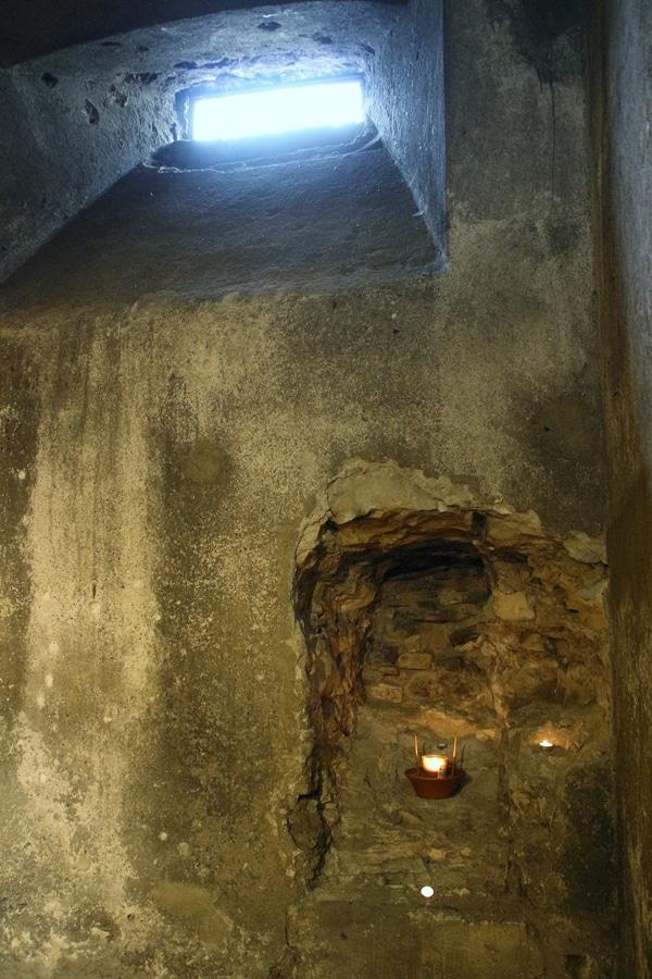 interior of an underground crypt