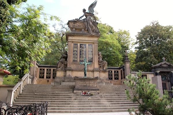 Tomb Slavin in Vyšehrad Cemetery in Prague