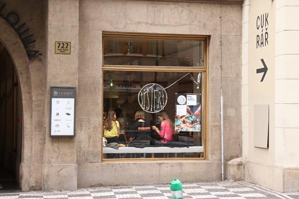 exterior of Sisters restaurant in Prague
