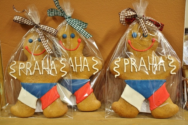 giant gingerbread man cookies in cellophane wrappers