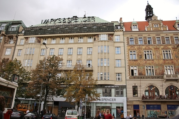 A large building in Prague