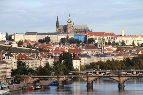 Prague Castle beyond the Vltava River