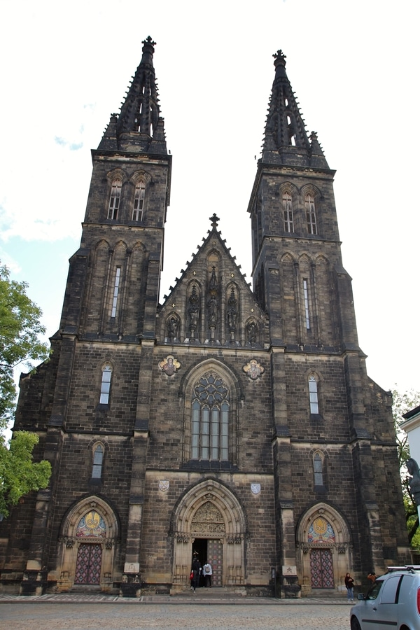 large church with 2 towers