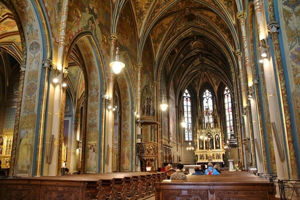 interior of Basilica of St. Peter and St. Paul showcasing vaulted ceilings