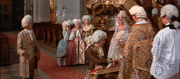 a screenshot from the movie Amadeus of a wedding