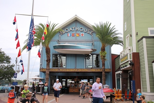 exterior of The Boathouse restaurant at Disney Springs