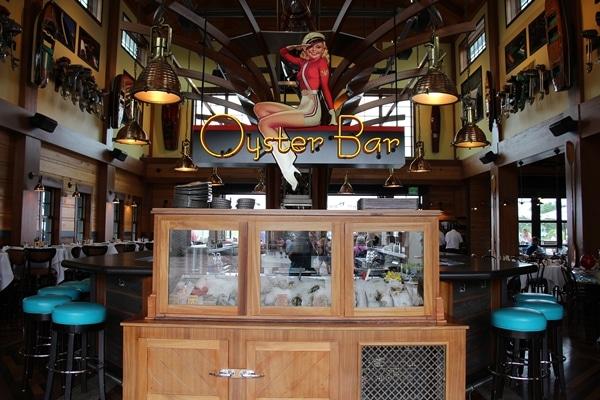an oyster bar in a restaurant