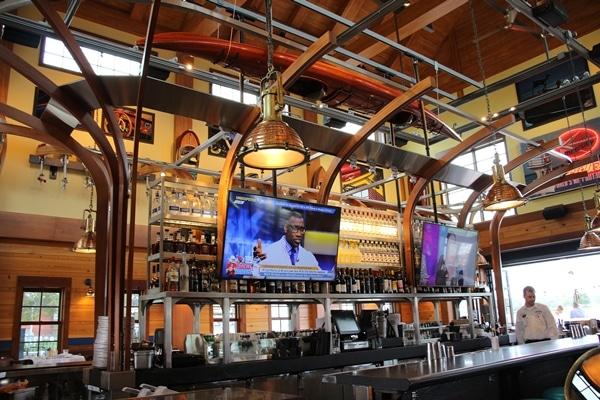a bar in a restaurant