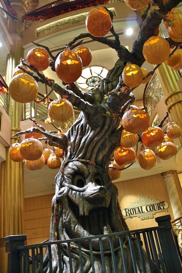 the pumpkin tree on the Disney Fantasy cruise ship