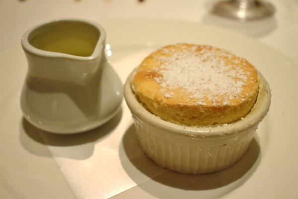 Grand Marnier souffle with sauce on the side