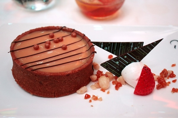 an individual sized tart on a plate