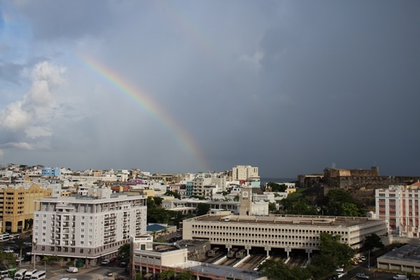 A rainbow over San Juan, Puerto Rico