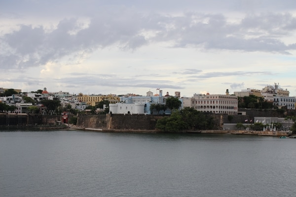 view of Old San Juan from the water
