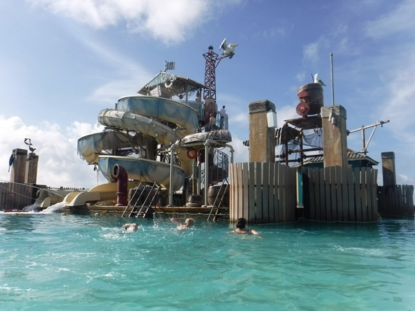 water slide at Disney\'s Castaway Cay island in the Bahamas