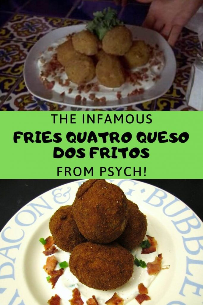 Image of Fries Quatro Queso Dos Fritos from Pysch with the homemade version below it