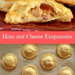 flaky round empanadas with ham and cheese filling