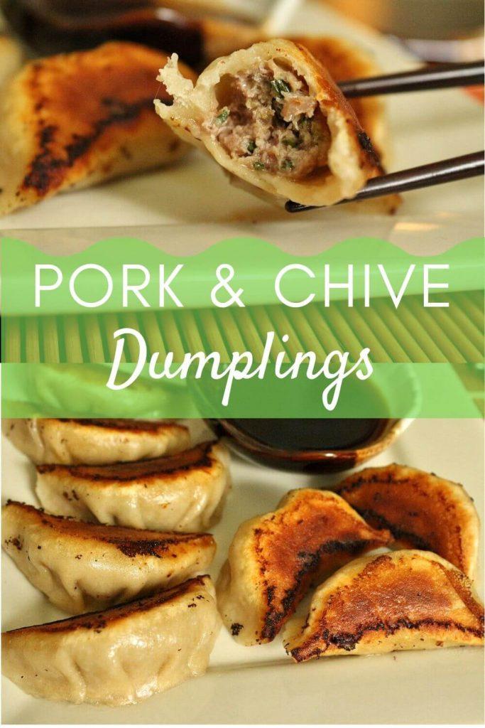 Pan-fried pork and chive dumplings