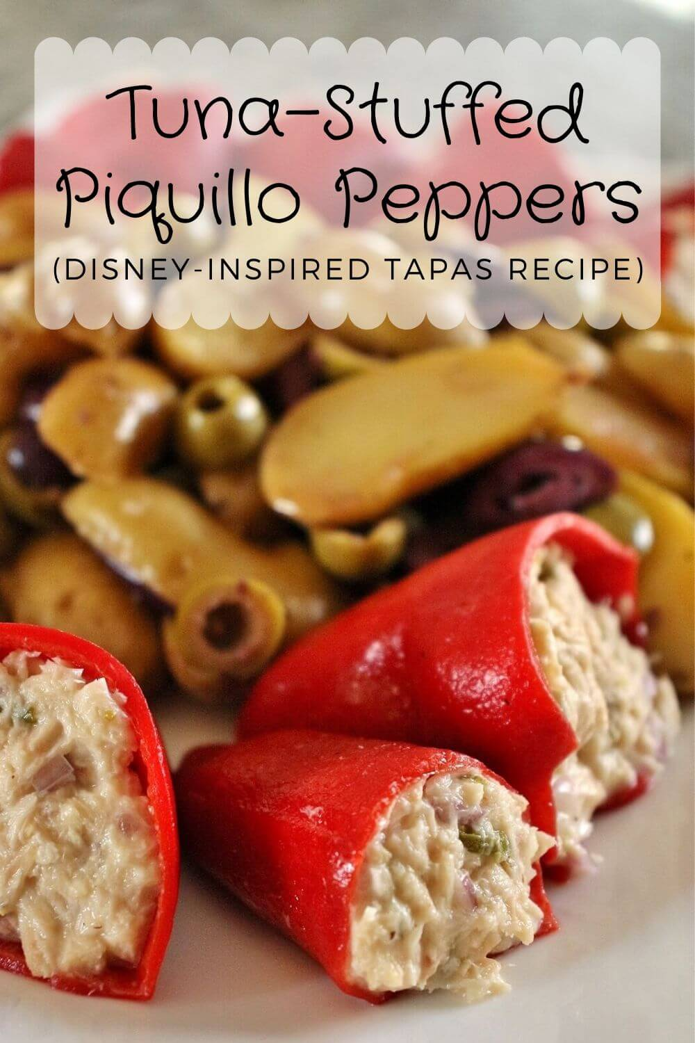 A platter of tuna-stuffed piquillo peppers