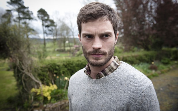 A screenshot of Irish actor Jamie Dornan from the BBC television show The Fall