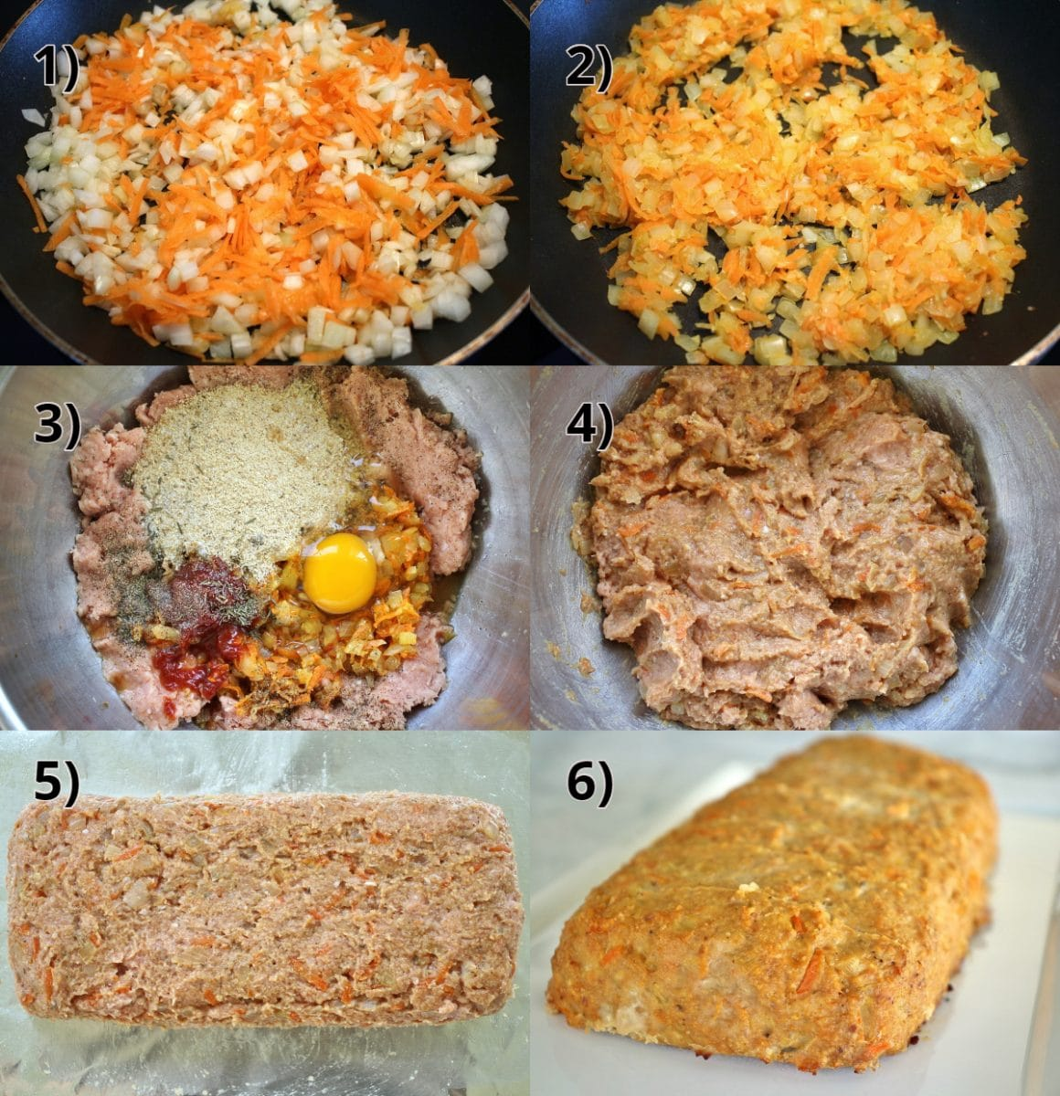 step by step photos of how to make turkey meatloaf
