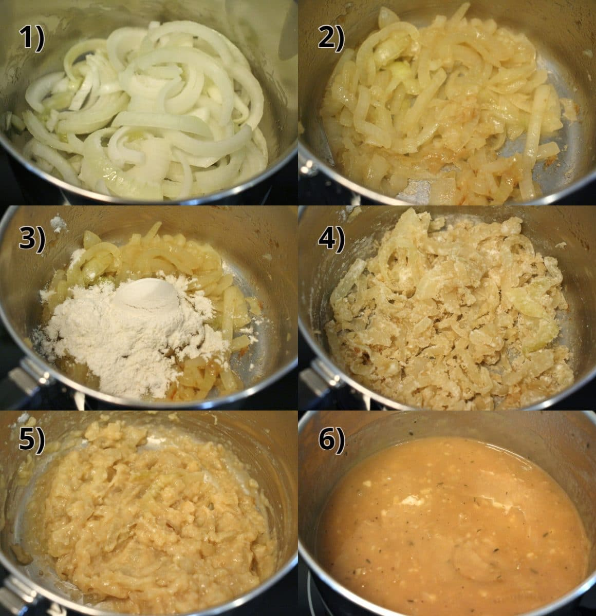 step by step photos of how to make onion gravy