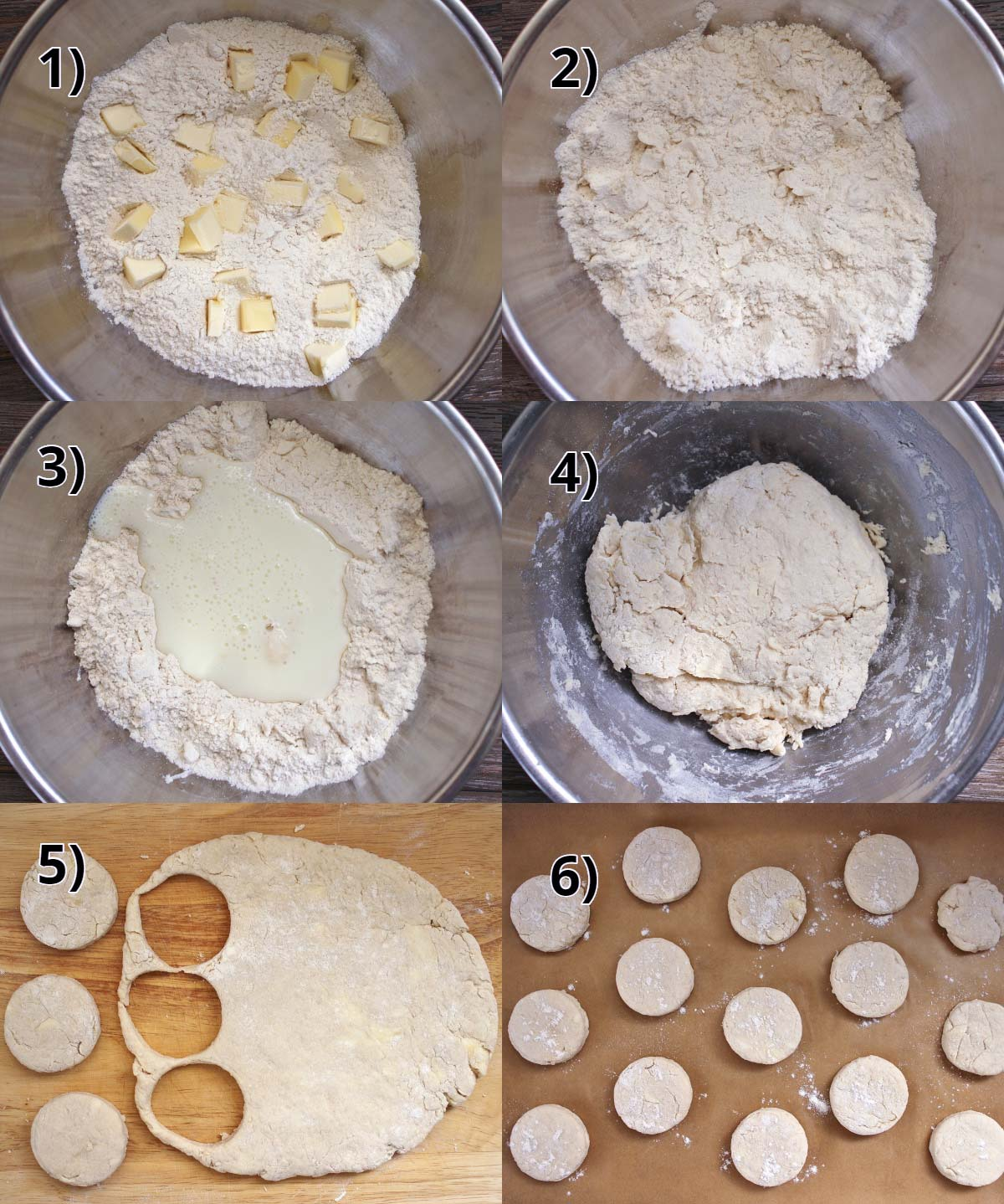 step by step photos of how to make afternoon tea scones