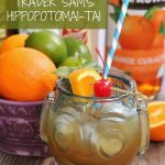a HippopotoMai-Tai served in a souvenir tiki glass