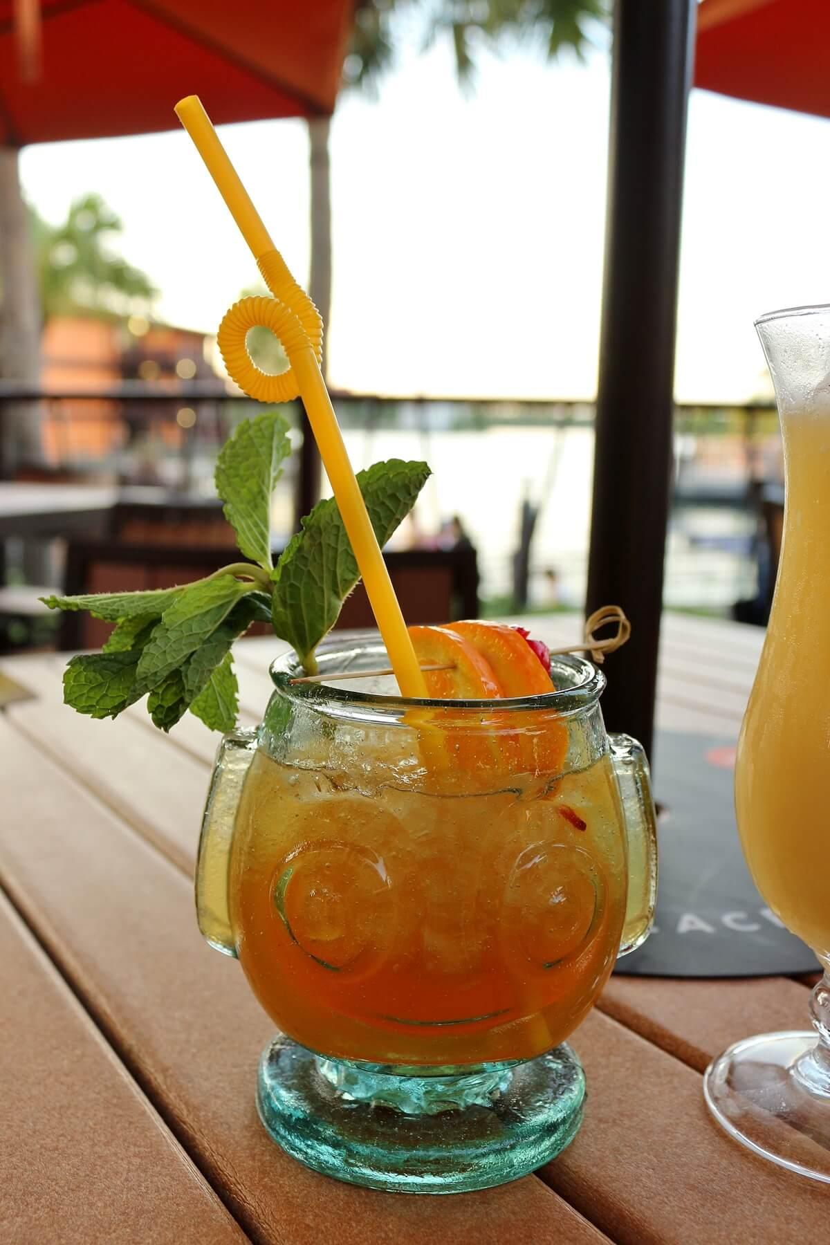 a HippopotoMai-Tai tiki drink served at Trader Sam's Tiki Terrace at Disney World